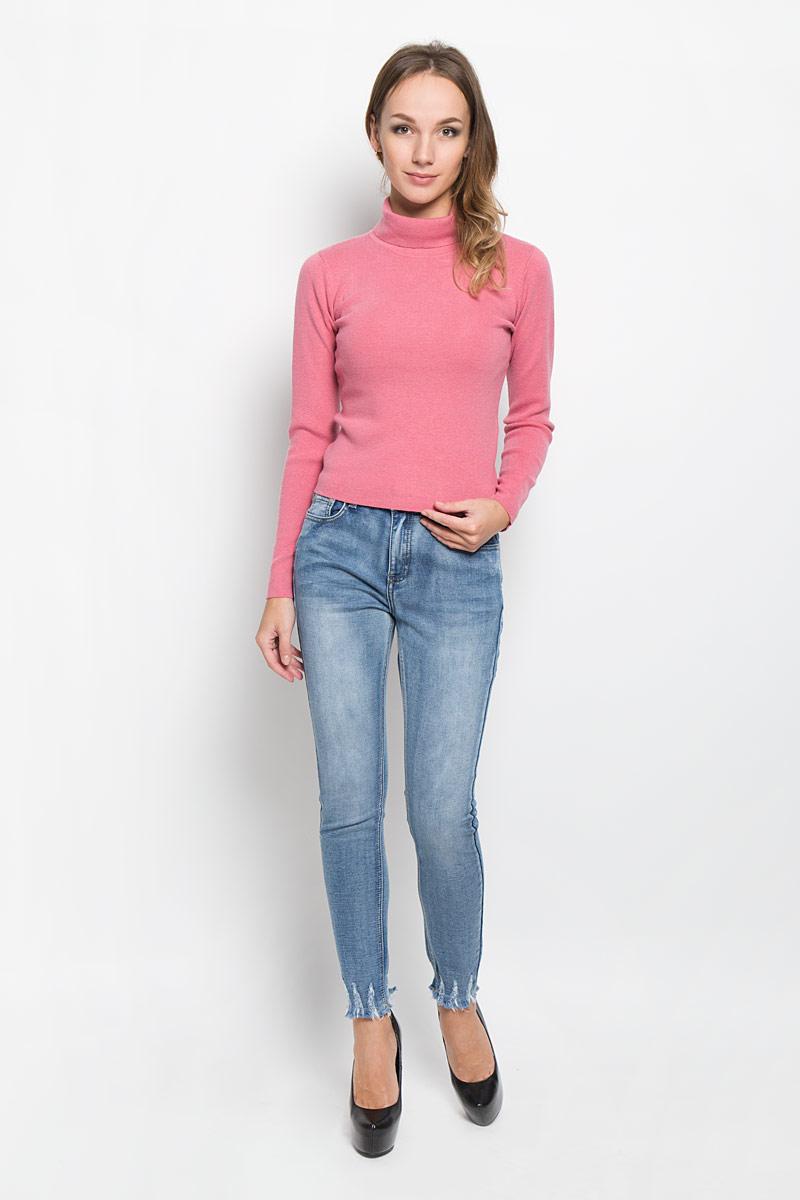 Водолазка женская Glamorous, цвет: розовый. CK1968. Размер S (44) джинсы glamorous glamorous gl008ewqpj48