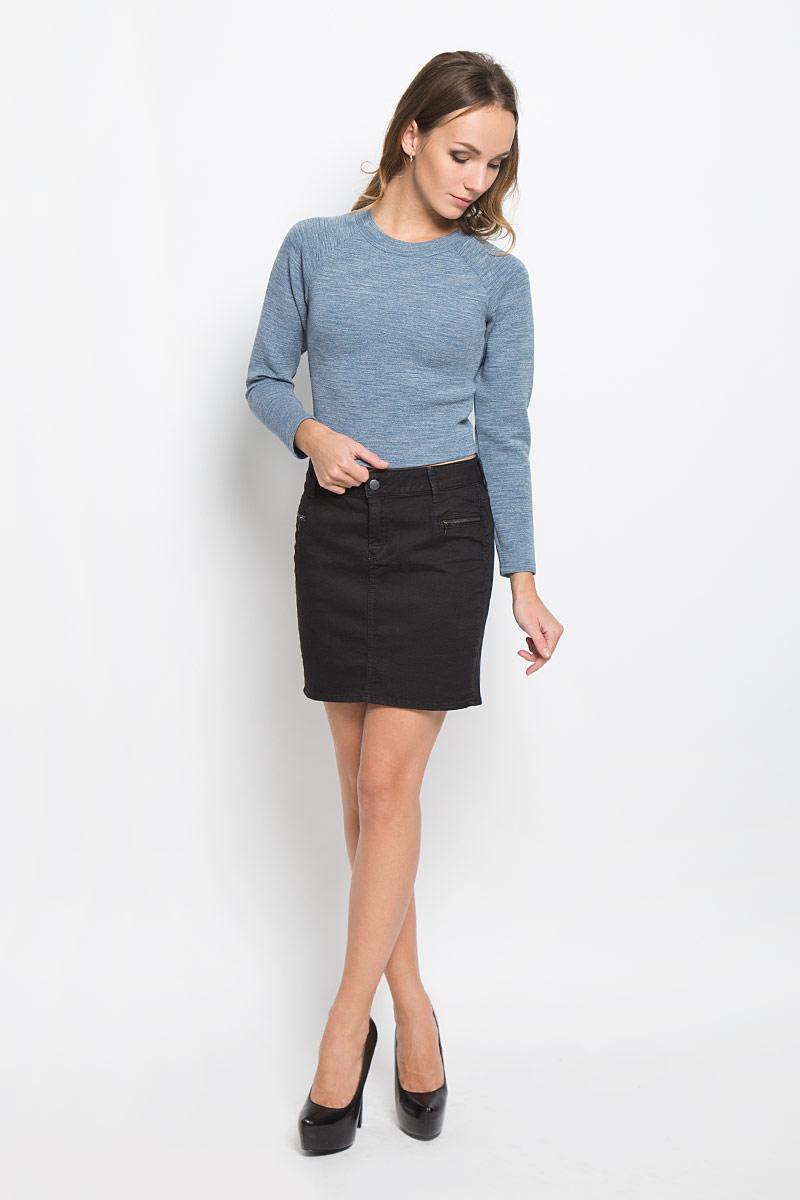 Юбка Lee Cooper, цвет: черный. JANIJO-7620. Размер 28 (42/44) блузка женская lee cooper цвет розовый синий dova4006 размер xl 52