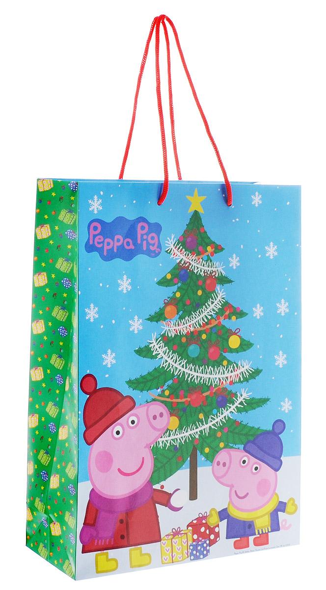 Peppa Pig Пакет подарочный Пеппа зимой 35 х 25 х 9 см -  Подарочная упаковка