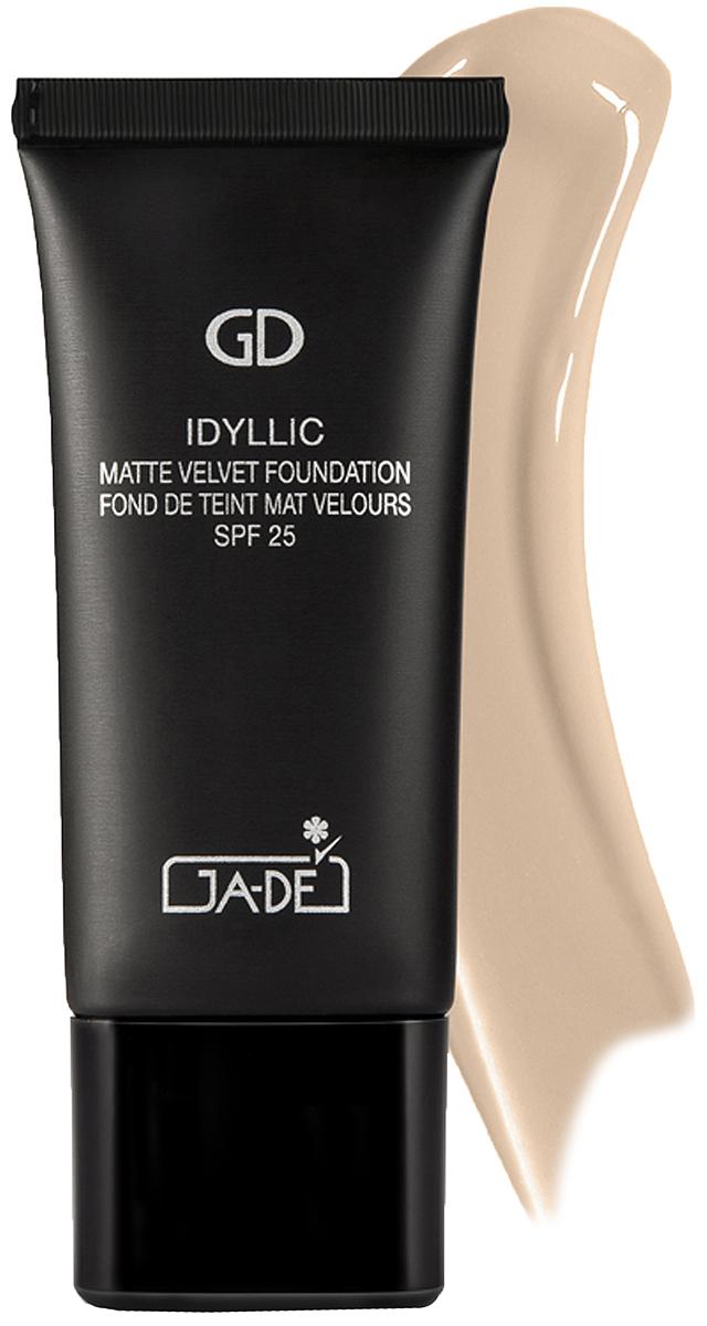 GA-DE Матирующий тональный крем Idyllic Matte Velvet, тон № 105, 30 мл ga de матирующий тональный крем matte perfect 102 30 мл