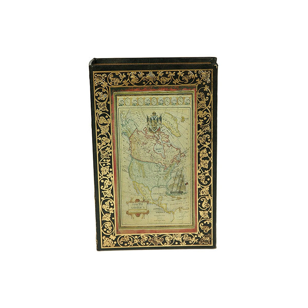 Шкатулка-фолиант Win Max Старинная карта, 26 х 17 х 5 см. 184239 шкатулка фолиант париж 21 14 3см