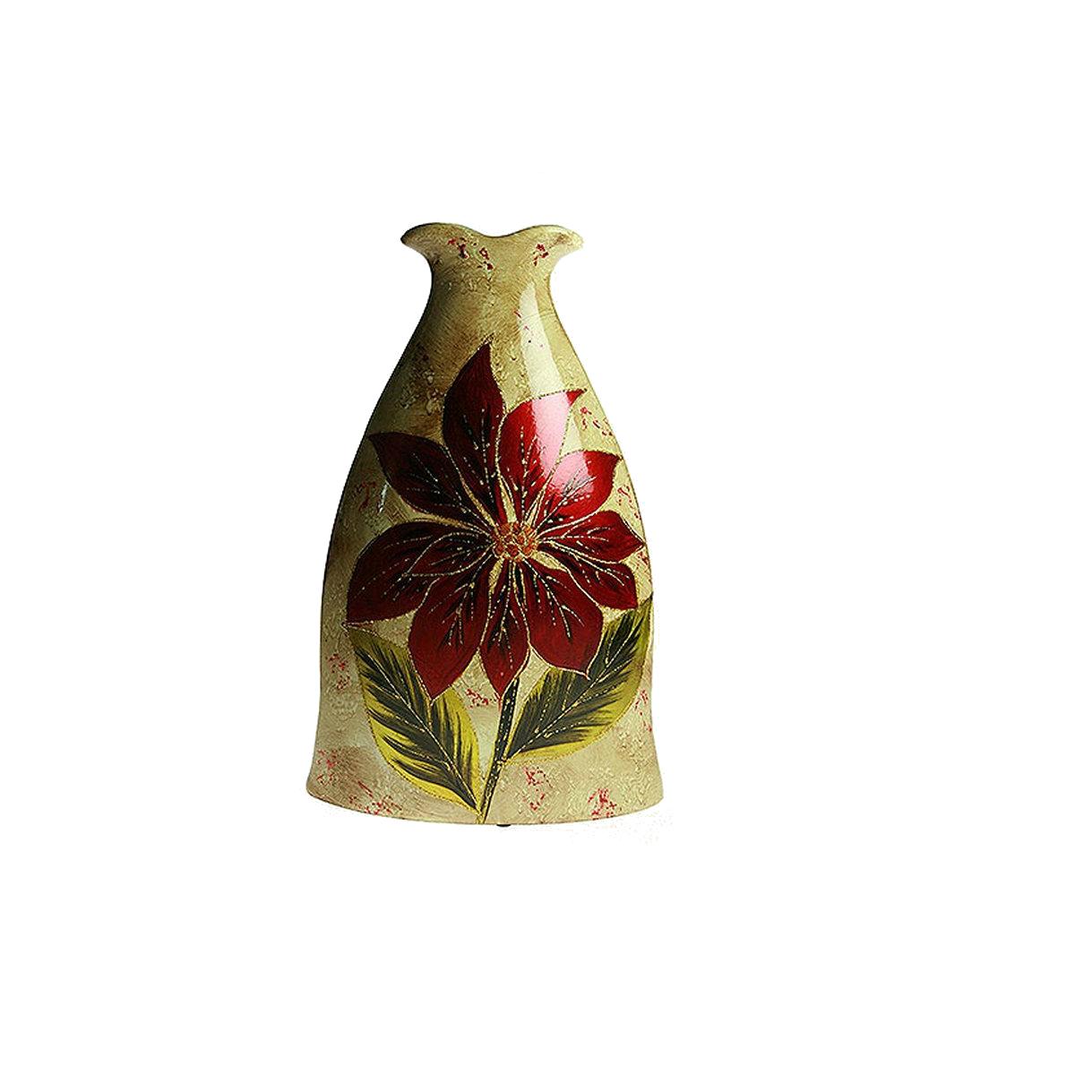 Ваза Русские Подарки Огненный цветок, высота 38 см. 214514