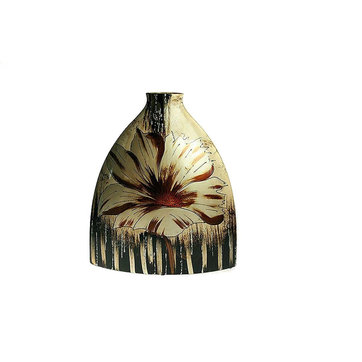 Ваза Русские Подарки Нежный пион, высота 36 см. 214515