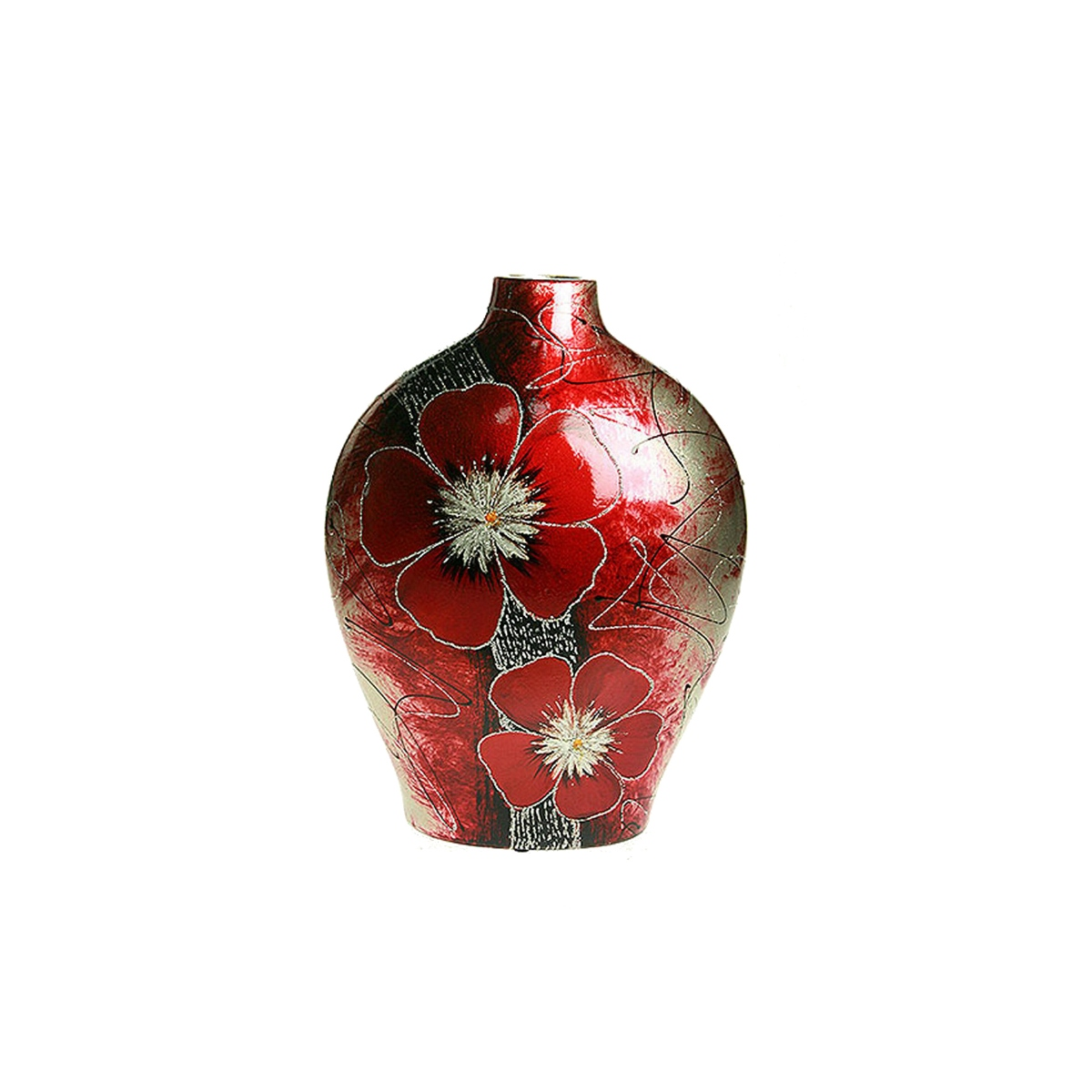 Ваза Русские Подарки Элегантная гвоздика, высота 29 см. 214520 ваза русские подарки винтаж высота 31 см 123710