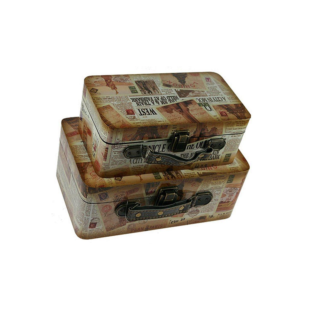 Набор сундучков Roura Decoracion, 28 х 17 х 11 см, 2 шт. 34720 набор сундучков win max 25 х 17 х 13 см 2 шт 83605