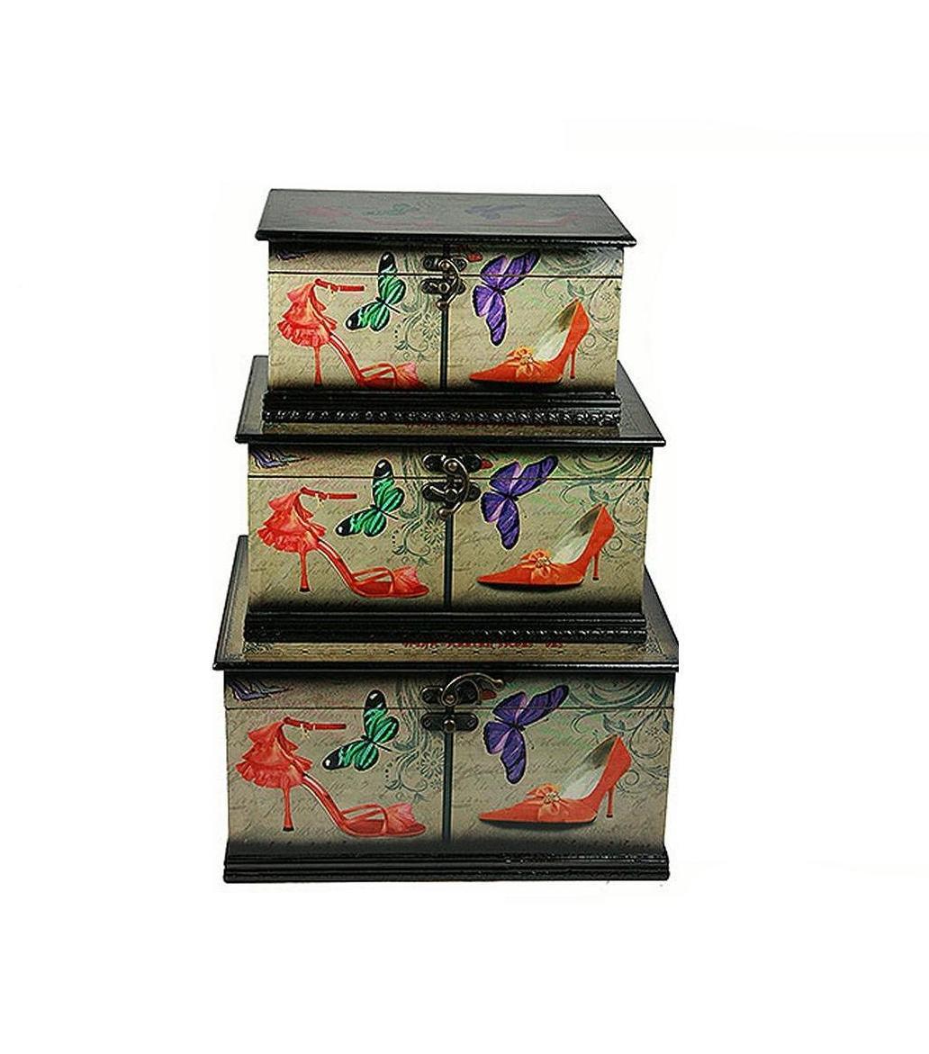 Набор сундучков Roura Decoracion, 3 шт, 30х23х16 см. 34783 набор сундучков roura decoracion 2 шт 42х31х11 см 34752