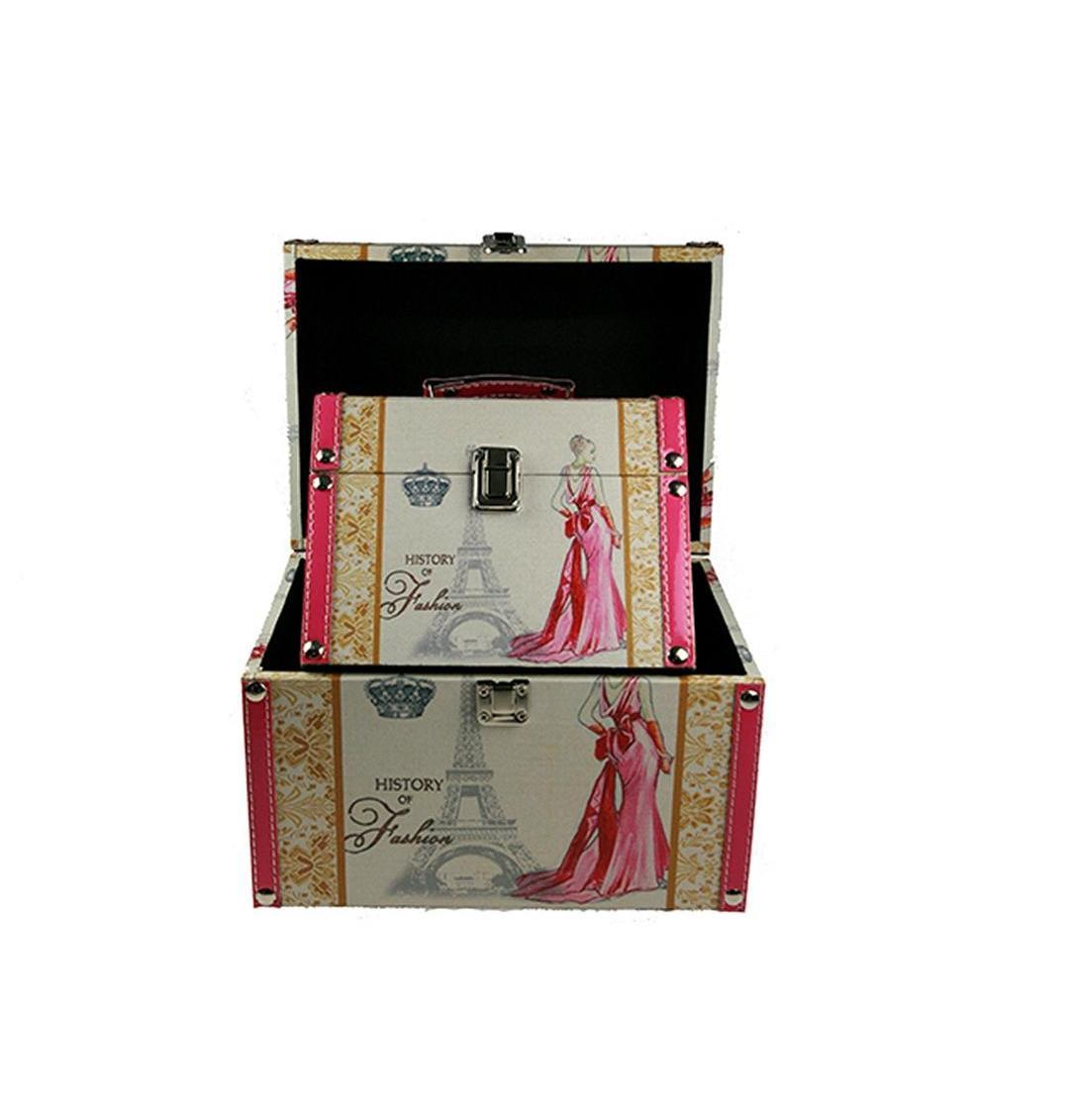 Набор сундучков Roura Decoracion, 2 шт, 27х19х22 см. 34789 набор сундучков roura decoracion 27 х 14 х 10 см 2 шт 34554