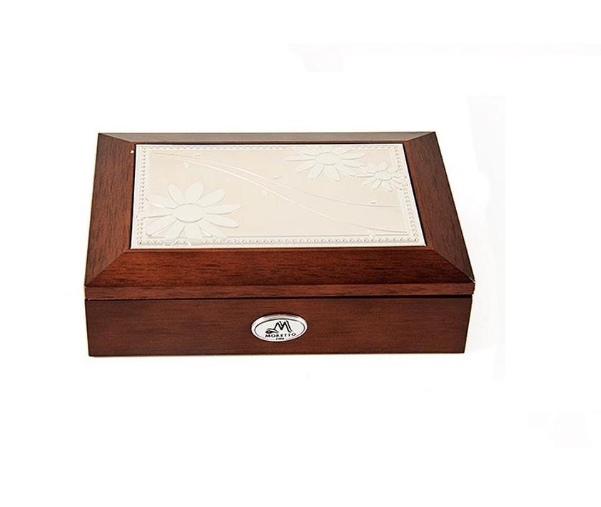 Шкатулка для ювелирных украшений Moretto, 18 х 13 х 5 см. 39834 шкатулка для украшений moretto ромашка 18 13 5 см серая