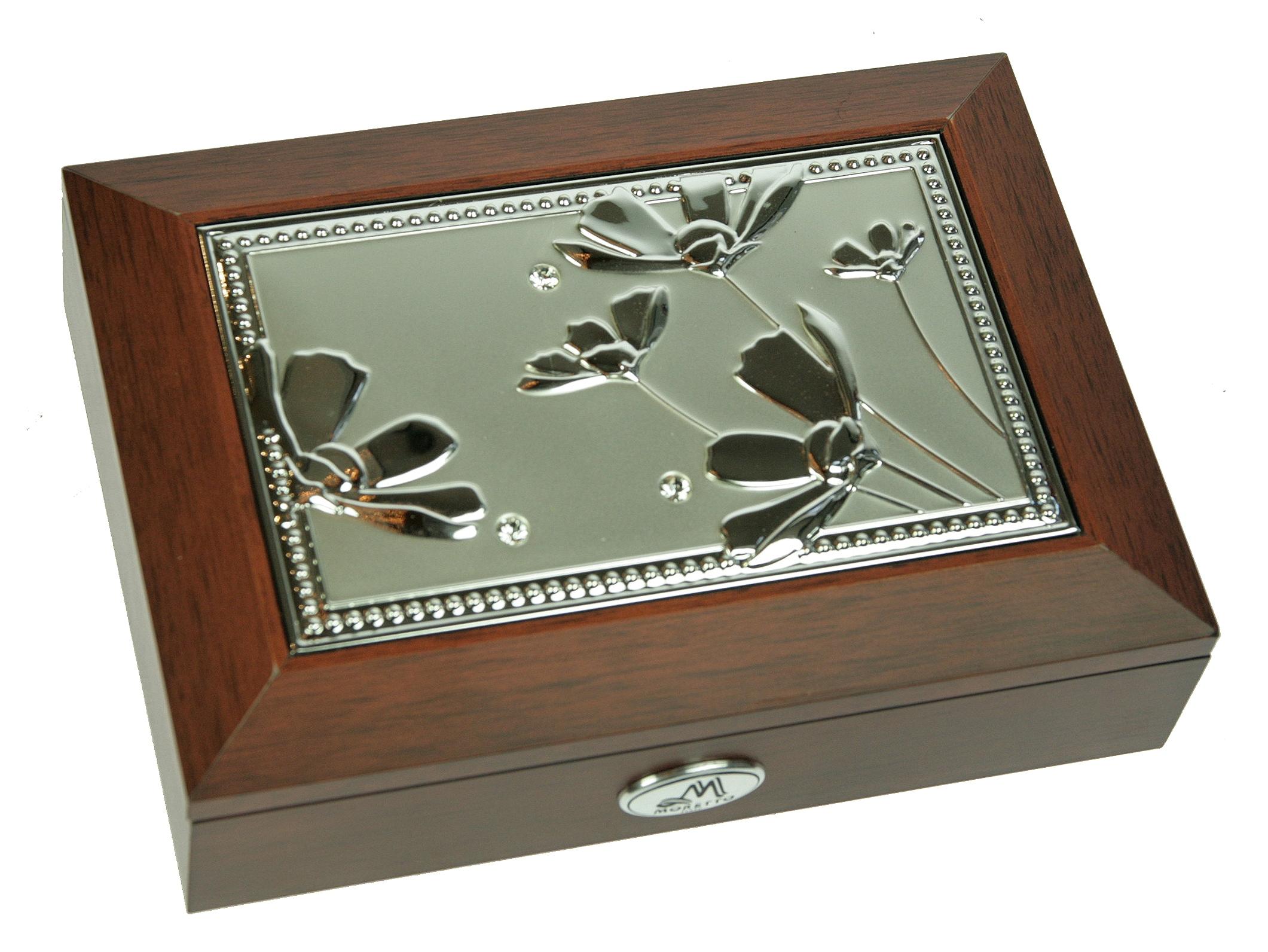 Шкатулка для ювелирных украшений Moretto, 18 х 13 х 5 см. 39850 шкатулка для украшений moretto ромашка 18 13 5 см серая