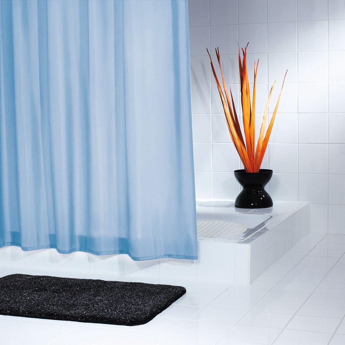 Штора для ванной комнаты Ridder Uni, цвет: голубой, 180 х 200 см салфетка pvc uni 28x40 cm овал беж