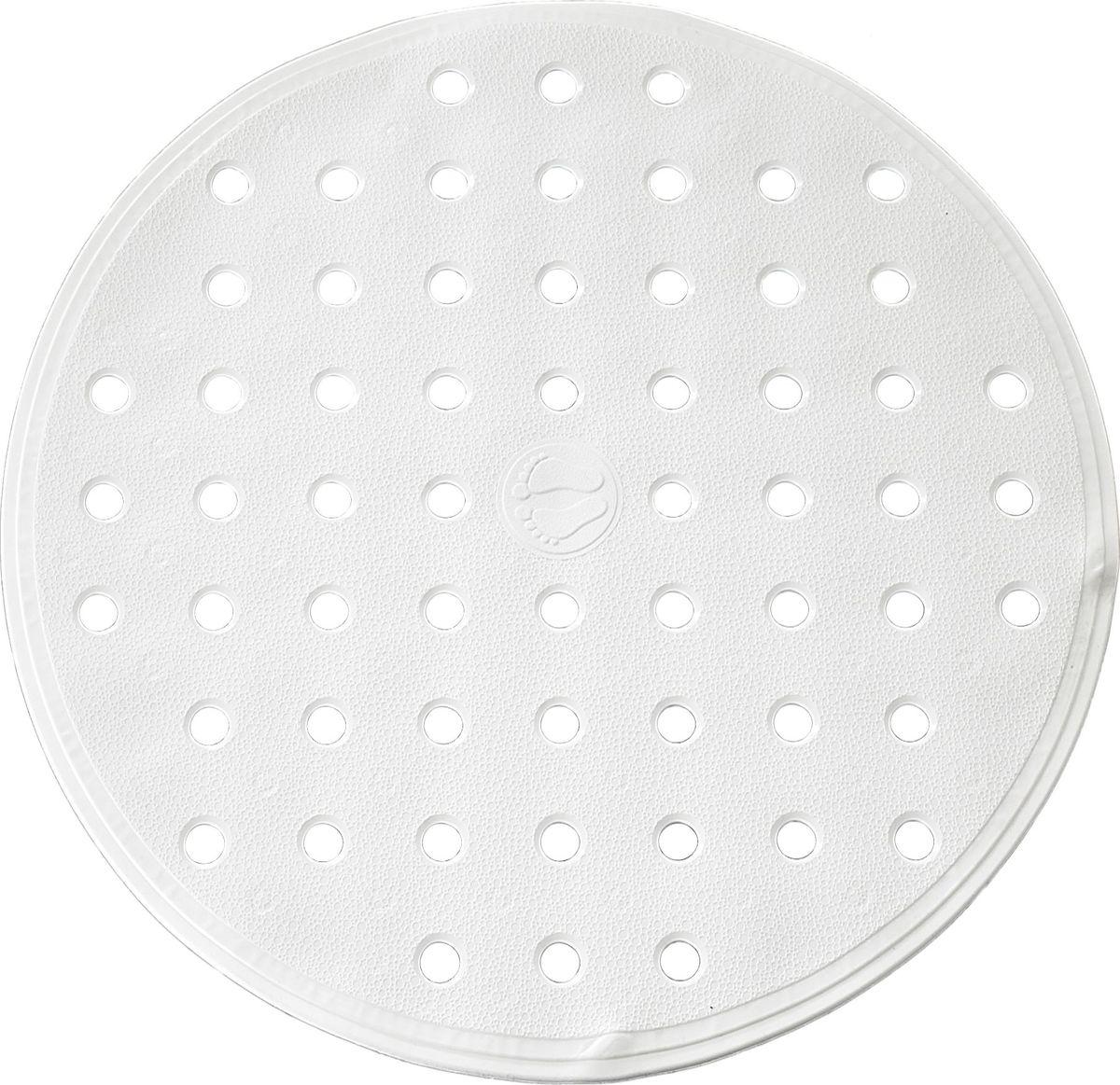 """Коврик для ванной Ridder """"Action"""", изготовленный из каучука с защитой от плесени и грибка, создает комфортное антискользящее покрытие в ванне. Крепится к поверхности при помощи присосок. Изделие удобно в использовании и легко моется теплой водой.   Диаметр: 53 см."""