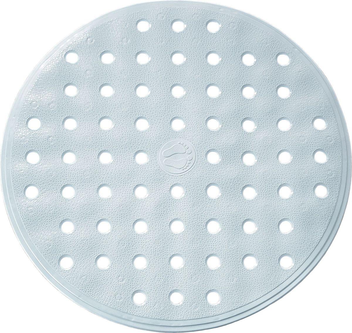 Коврик для ванной Ridder Action, противоскользящий, цвет: серый, диаметр 53 см babyono коврик противоскользящий для ванной цвет оранжевый 55 х 35 см