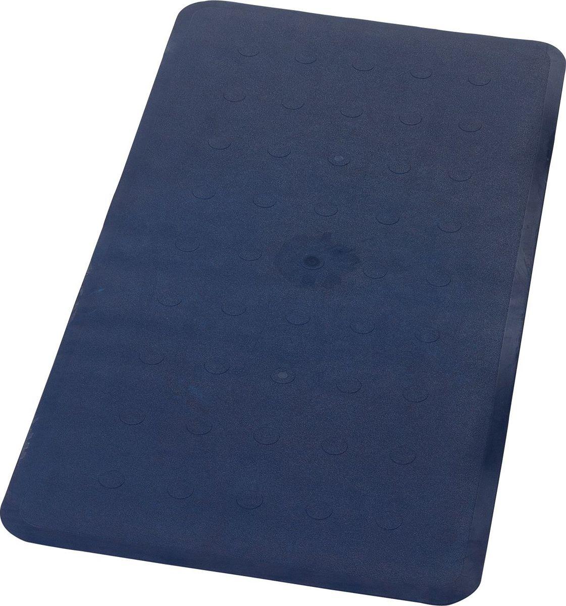Коврик для ванной Ridder Basic, противоскользящий, на присосках, цвет: синий, 36 х 71 см babyono коврик противоскользящий для ванной цвет голубой 70 х 35 см