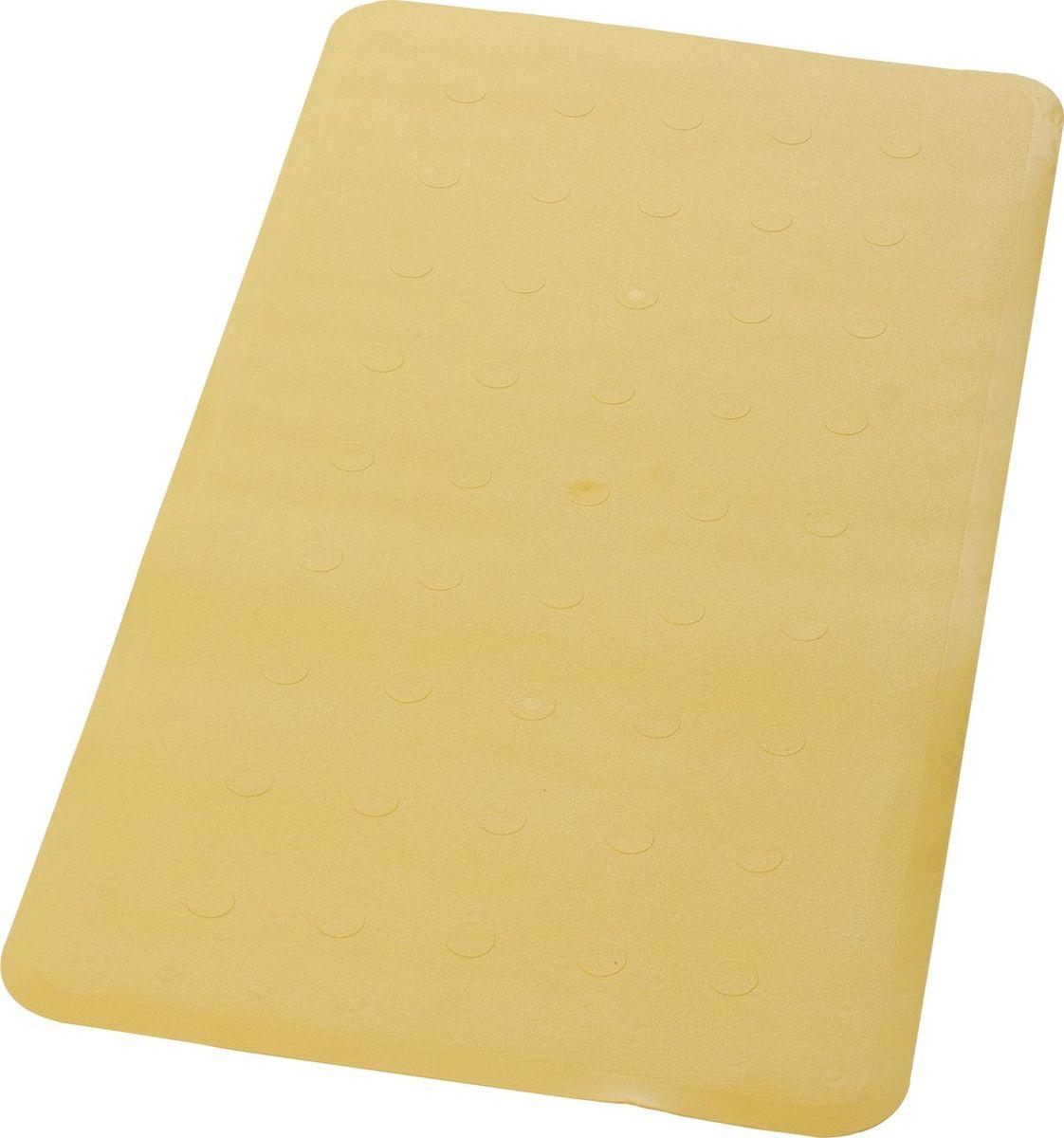 Коврик для ванной Ridder Basic, противоскользящий, на присосках, цвет: желтый, 36 х 71 см babyono коврик противоскользящий для ванной цвет бежевый 70 х 35 см