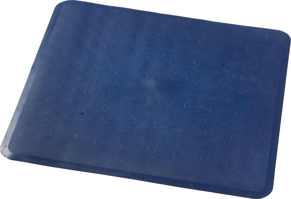 Коврик для ванной Ridder Basic, противоскользящий, на присосках, цвет: синий, 51 х 51 см коврик для ванной ridder park противоскользящий на присосках цвет бежевый 54 х 54 см