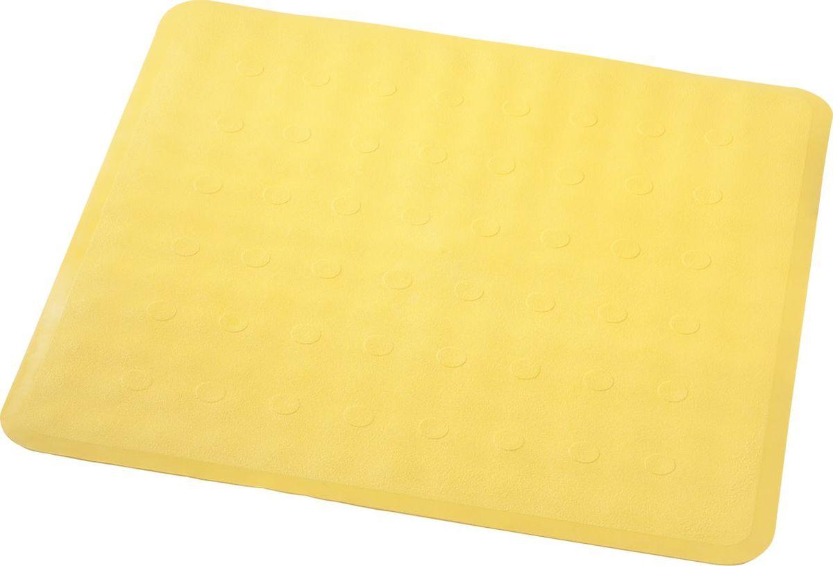 Коврик для ванной Ridder Basic, противоскользящий, на присосках, цвет: желтый, 51 х 51 см коврик для ванной ridder park противоскользящий на присосках цвет бежевый 54 х 54 см