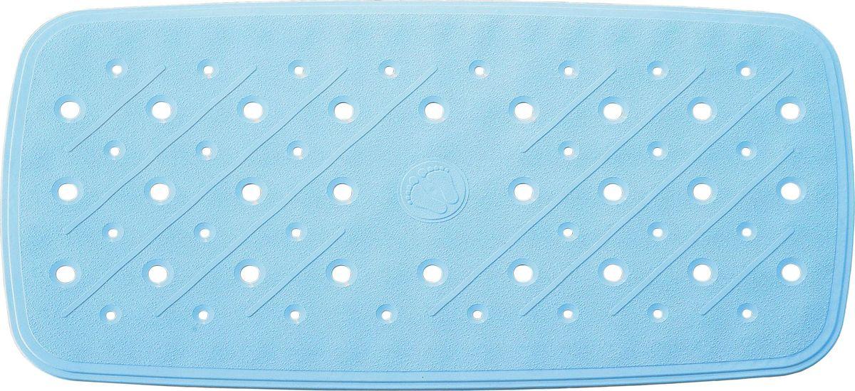Коврик для ванной Ridder Promo, противоскользящий, на присосках, цвет: голубой, 36 х 71 см babyono коврик противоскользящий для ванной цвет голубой 70 х 35 см