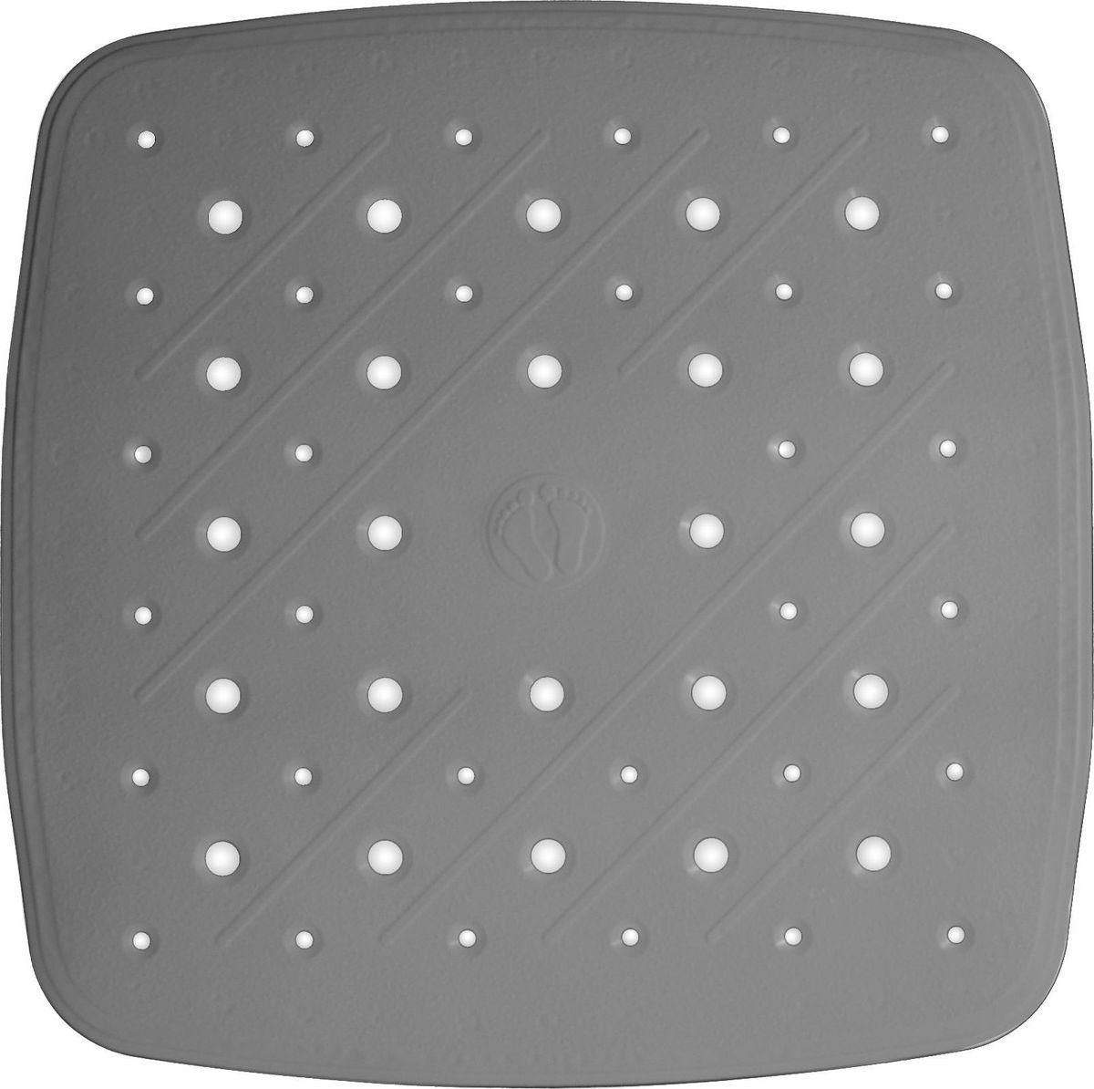 Коврик для ванной Ridder Promo, противоскользящий, на присосках, цвет: серый, 51 х 51 см поручень для ванной ridder promo цвет белый длина 60 см а1016001 page 9