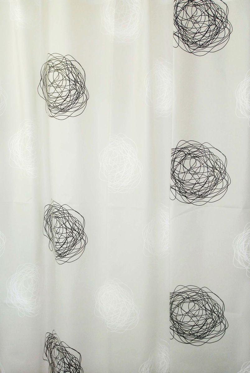 """Оригинальная шторка Ridder """"Pamuk"""" создаст  прекрасное настроение в ванной комнате. Она выполнена из  высококачественного материала и не имеет запаха."""