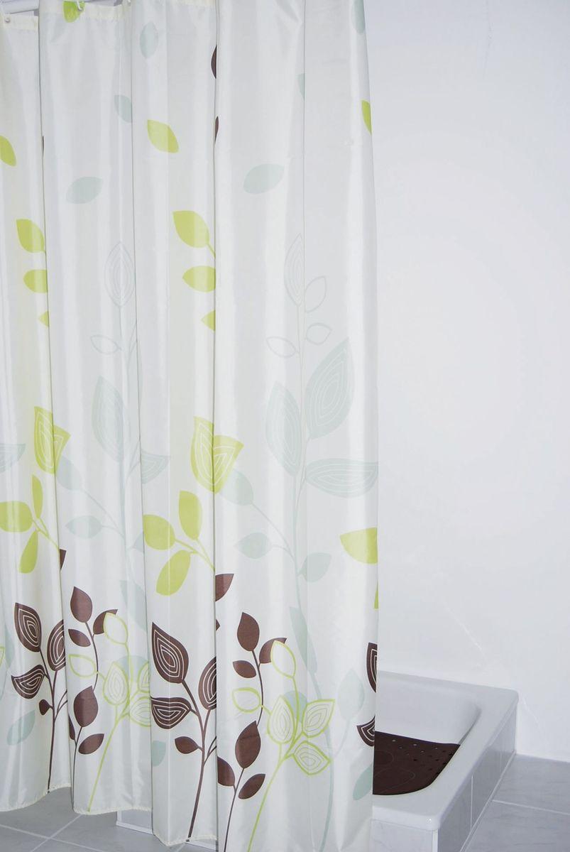 Высококачественная немецкая штора для душа, выполненная из 100% полиэстера, создает прекрасное настроение. Данный материал с перламутровым отливом имеет утяжелённый нижний кант.  Машинная стирка. Глажка при низкой температуре.