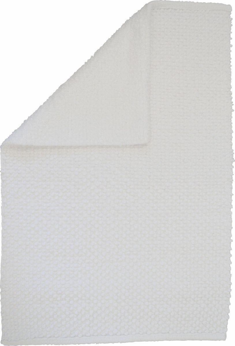 Коврик для ванной Ridder Fluffy, двухсторонний, цвет: белый, 50 х 80 см коврик для ванной ridder grand prix цвет белый синий 55 х 85 см