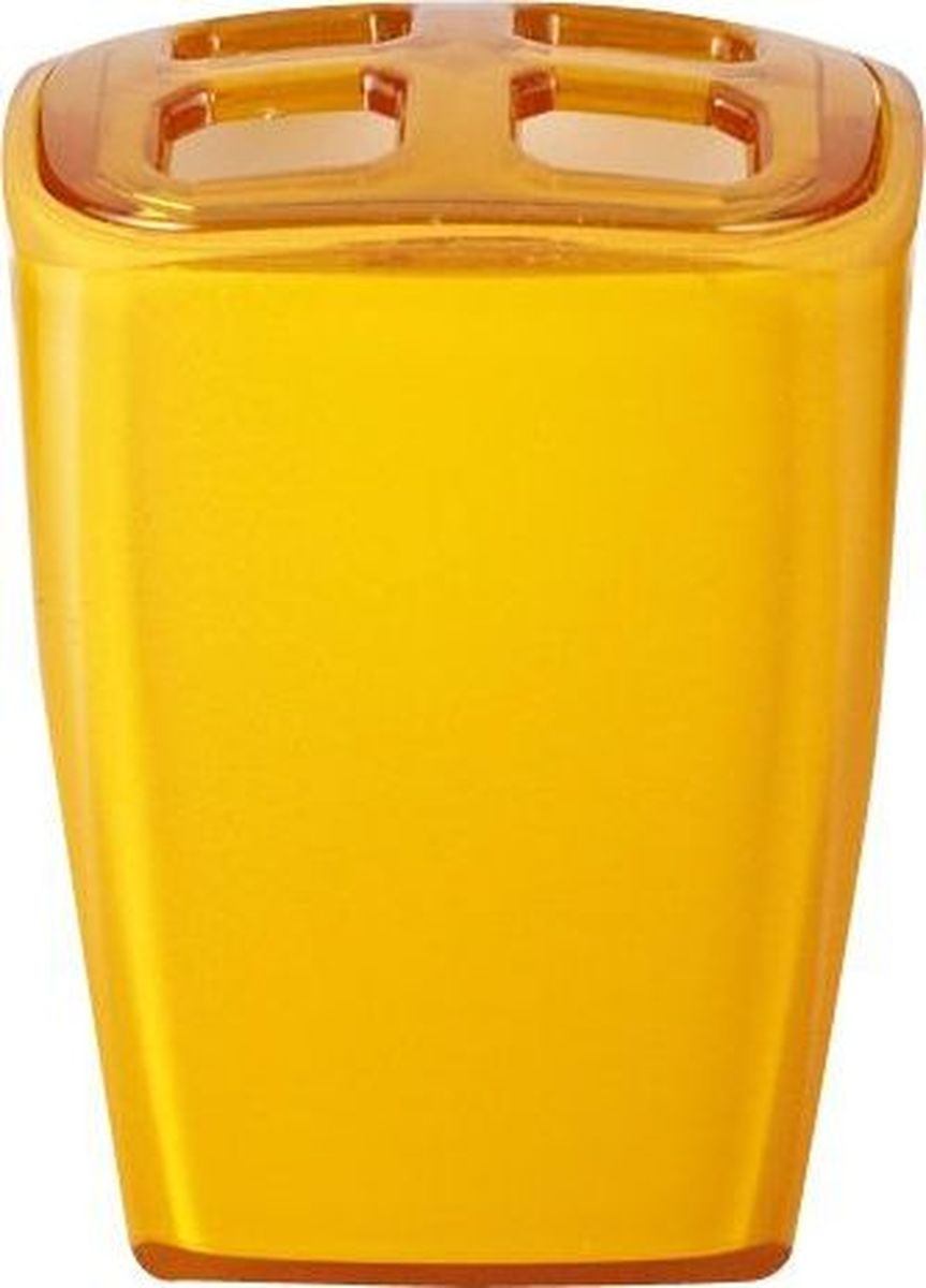Стакан для зубных щеток Ridder Neon, цвет: оранжевый zipit пенал neon pouch цвет оранжевый