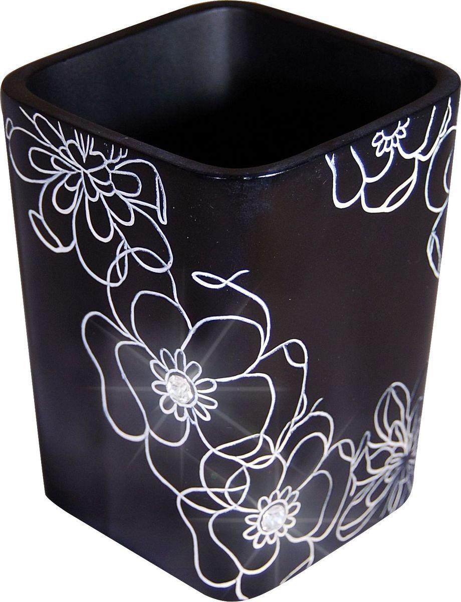 Стакан для ванной комнаты Ridder Diamond, цвет: черный