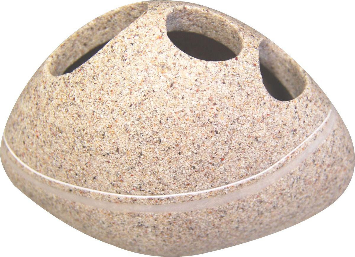 """Стакан для зубных щеток Ridder """"Little Rock"""" изготовлен из полирезина, устойчивого к ультрафиолету. Экологичный полирезин - это твердый многокомпонентный материал на основе синтетической смолы, с добавлением каменной крошки и красящих пигментов."""