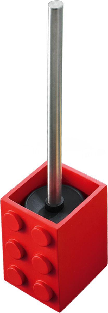 Ершик для унитаза Ridder Bob, с подставкой, цвет: красный мыльница ridder bob цвет зеленый