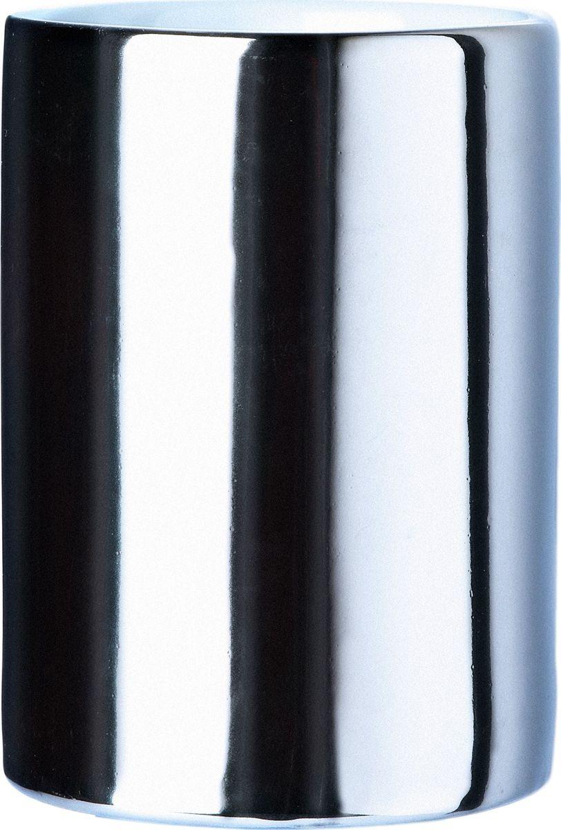 Стакан для зубных щеток Ridder Elegance, цвет: хром табурет в ванную ridder assistent поворотный цвет белый матовый хром а0050401