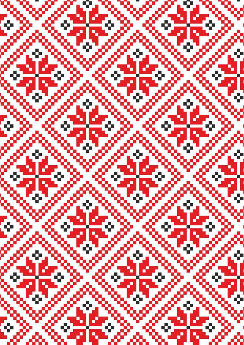 записная книжка 80 листов орнамент 1 18556 Попурри Записная книжка Орнамент 80 листов в клетку/линейку 00583
