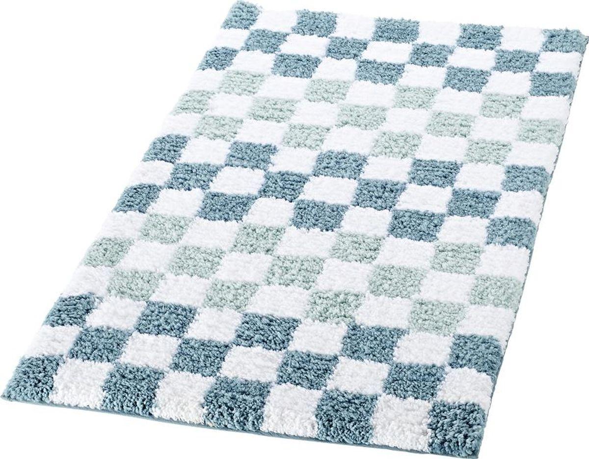 Коврик для ванной Ridder Grand Prix, цвет: белый, синий, 55 х 85 см коврик для ванной комнаты ridder istanbul 790317 60х90см