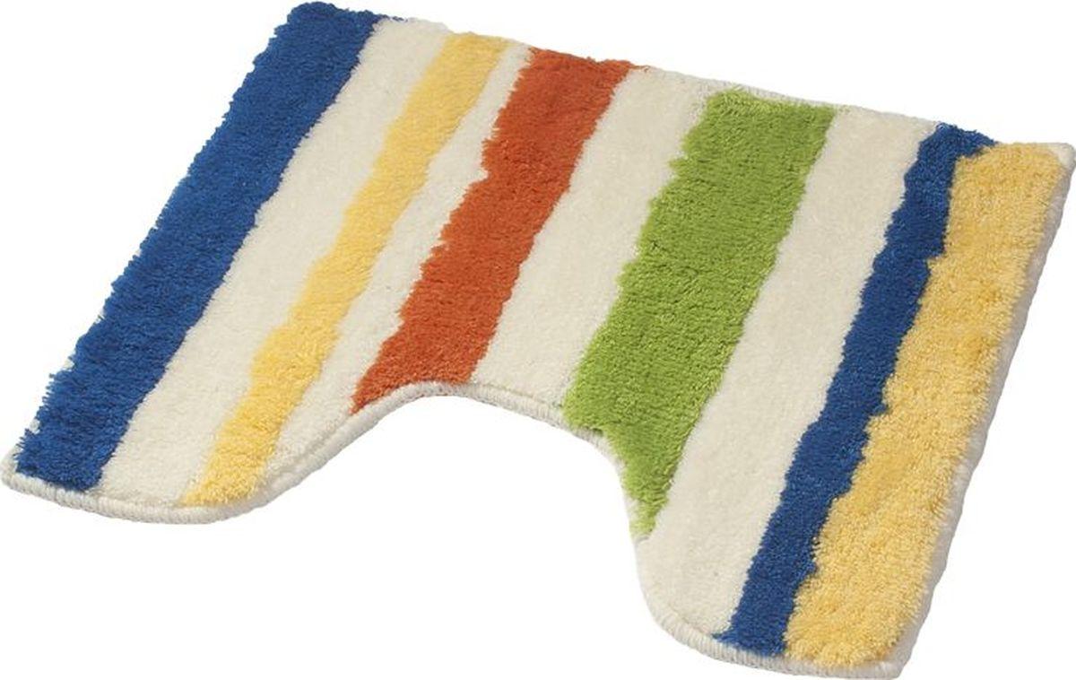 Коврик для ванной Ridder Tutu, с вырезом, цвет: мультиколор, 50 х 50 см коврик для ванной ridder grand prix цвет белый синий 55 х 85 см