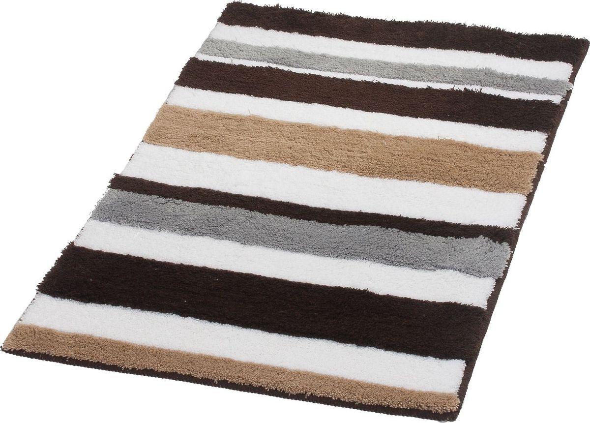 Коврик для ванной Ridder Tutu, цвет: бежевый, коричневый, 60 х 90 см