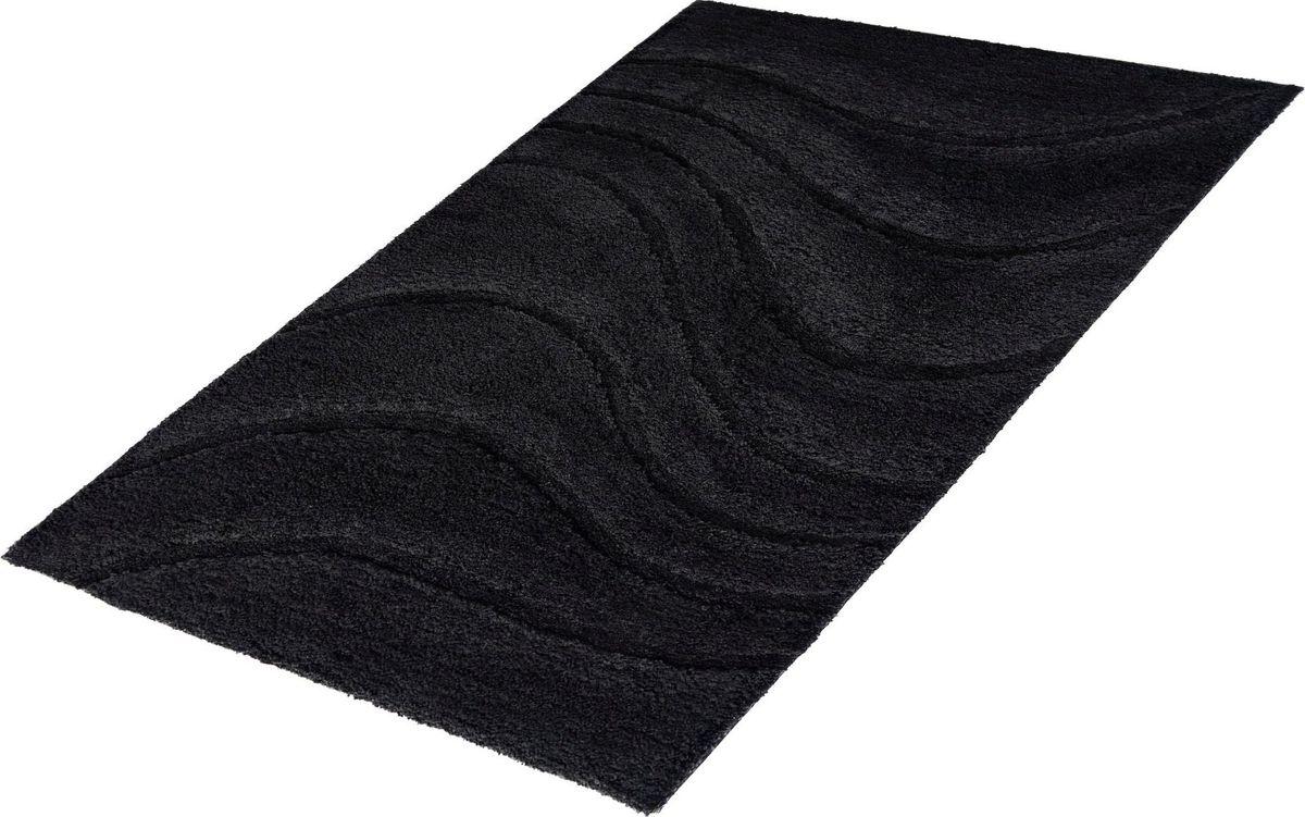 """Фото Коврик для ванной Ridder """"La ola"""", цвет: черный, 70 х 120 см"""