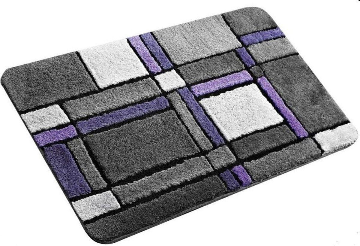 Коврик для ванной Ridder Gravure, цвет: фиолетовый, 60 х 90 см коврик для ванной ridder grand prix цвет белый синий 55 х 85 см