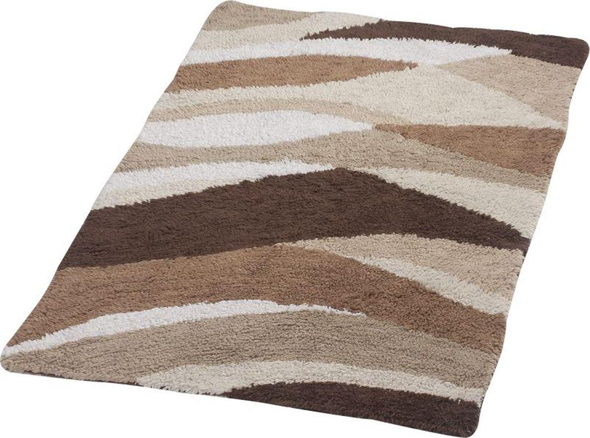 """Двухсторонний коврик для ванной Ridder """"Dune"""" выполнен из 100% хлопка. Он долго прослужит ввашем доме, добавляя тепло и уют, а также внесет неповторимый колорит винтерьер ванной комнаты.Высота ворса: 10 мм."""