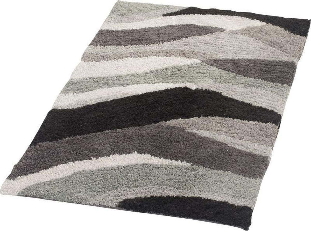 """Фото Коврик для ванной Ridder """"Dune"""", двухсторонний, цвет: серый, 70 х 120 см"""