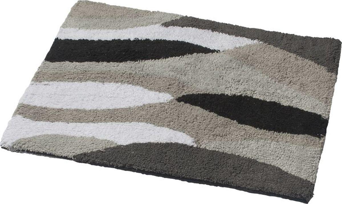 Коврик для ванной Ridder Dune, двухсторонний, цвет: серый, черный, 60 х 50 см for canon pfi 107 disposable cartridge chip for canon ipf680 ipf685 ipf770 ipf780 ipf785 printer