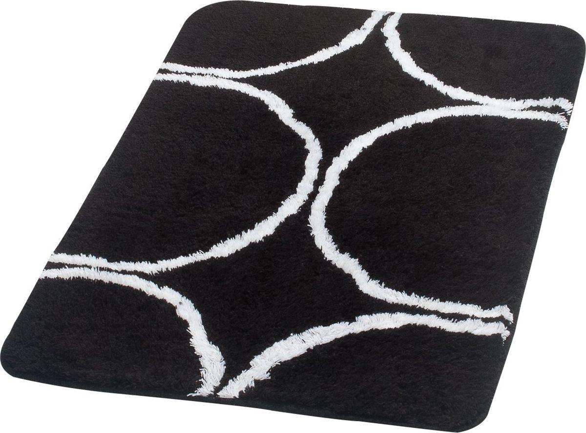 Коврик для ванной Ridder Circle, цвет: черный, 70 х 120 см