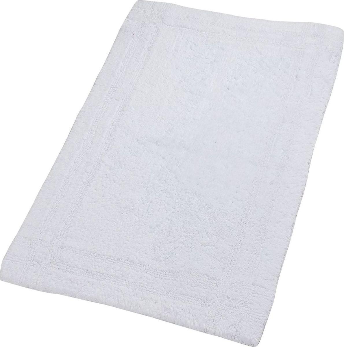 """Коврик для ванной Ridder """"Antigua"""", двухсторонний, цвет: белый, 70 х 120 см"""