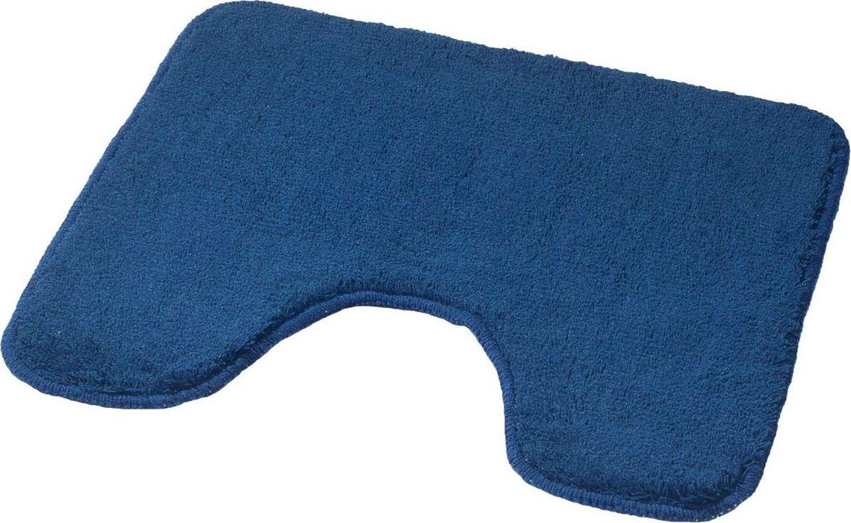 Коврик для ванной Ridder Palma, с вырезом, цвет: синий, 55 х 49 см коврик для ванной ridder grand prix цвет белый синий 55 х 85 см