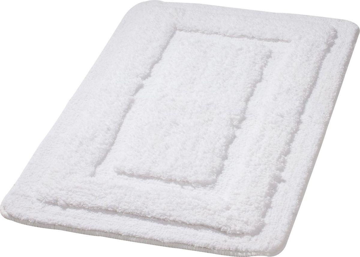 Коврик для ванной Ridder Juwel, цвет: белый, 60 х 90 см коврик для ванной ridder grand prix цвет белый синий 55 х 85 см
