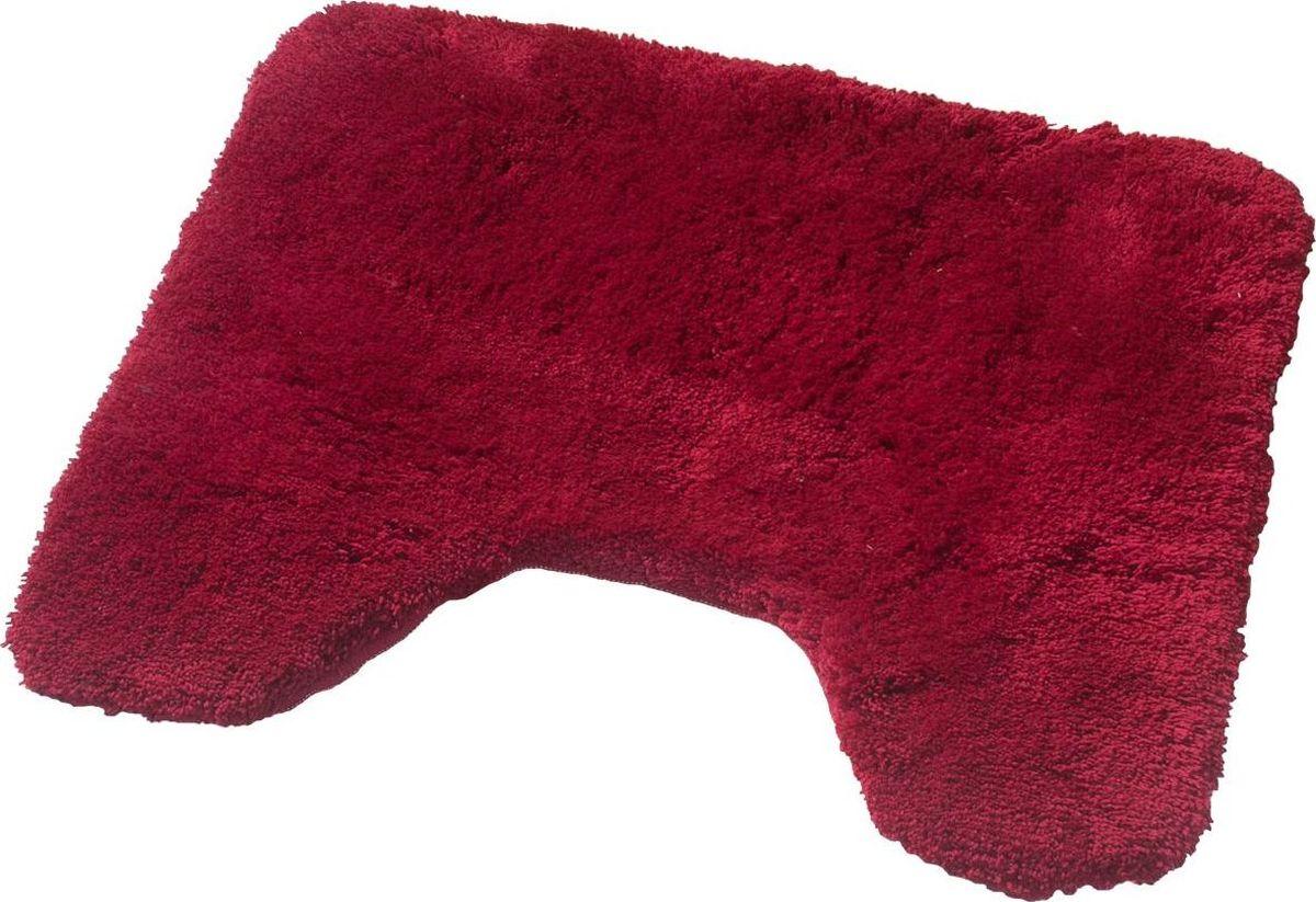Коврик для ванной Ridder  Istanbul , с вырезом, цвет: красный, 50 х 50 см - Коврики