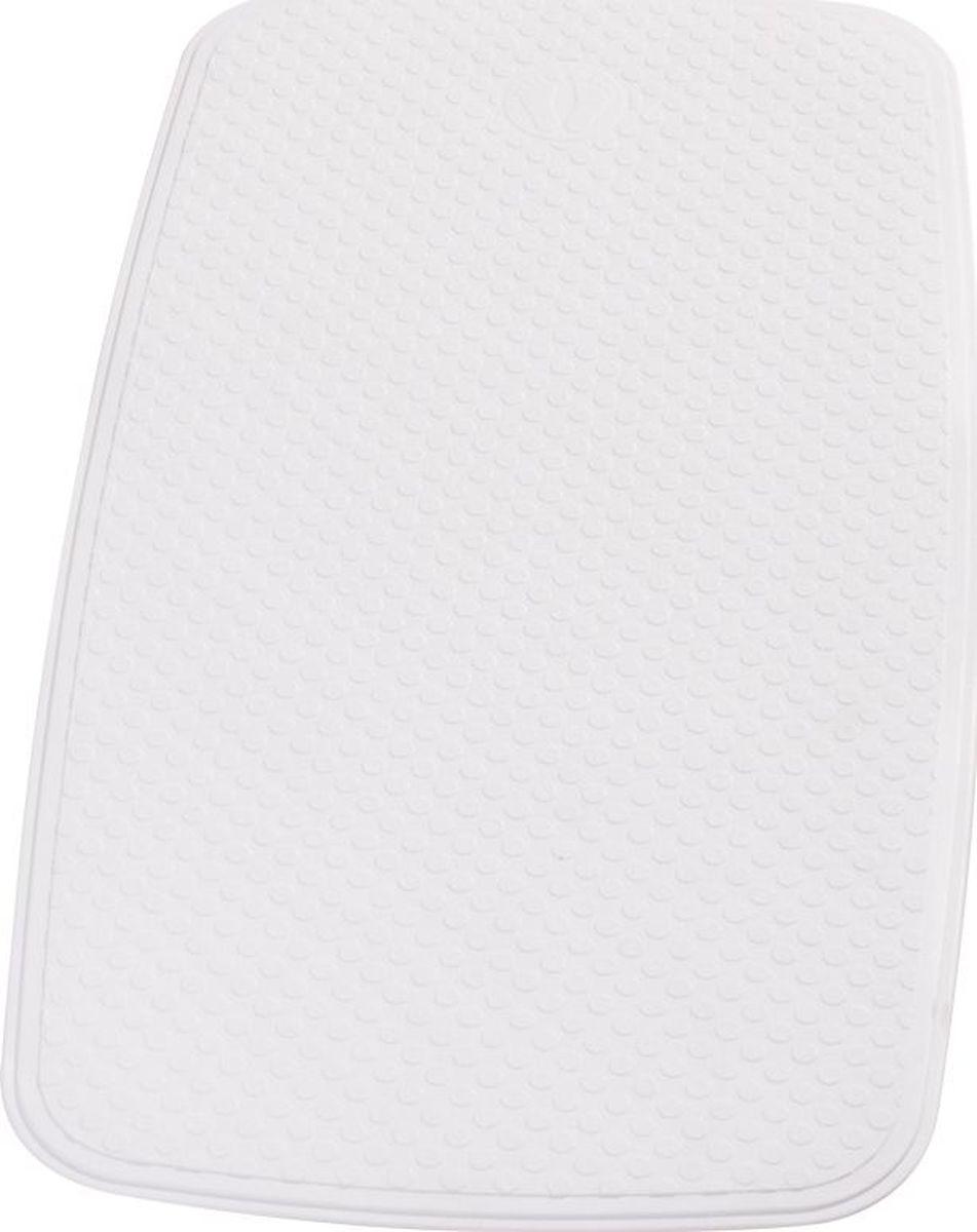 Коврик для ванной Ridder Capri, противоскользящий, на присосках, цвет: белый, 38 х 72 см babyono коврик противоскользящий для ванной цвет голубой 70 х 35 см
