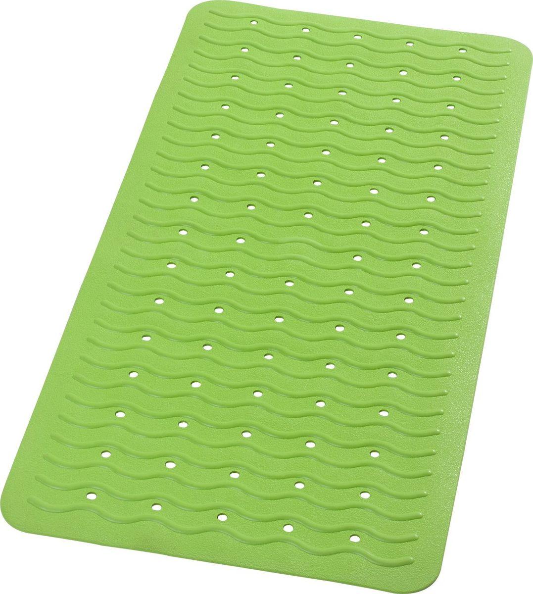 """Коврик для ванной Ridder """"Playa"""", противоскользящий, на присосках, цвет: зеленый, 38 х 80 см"""