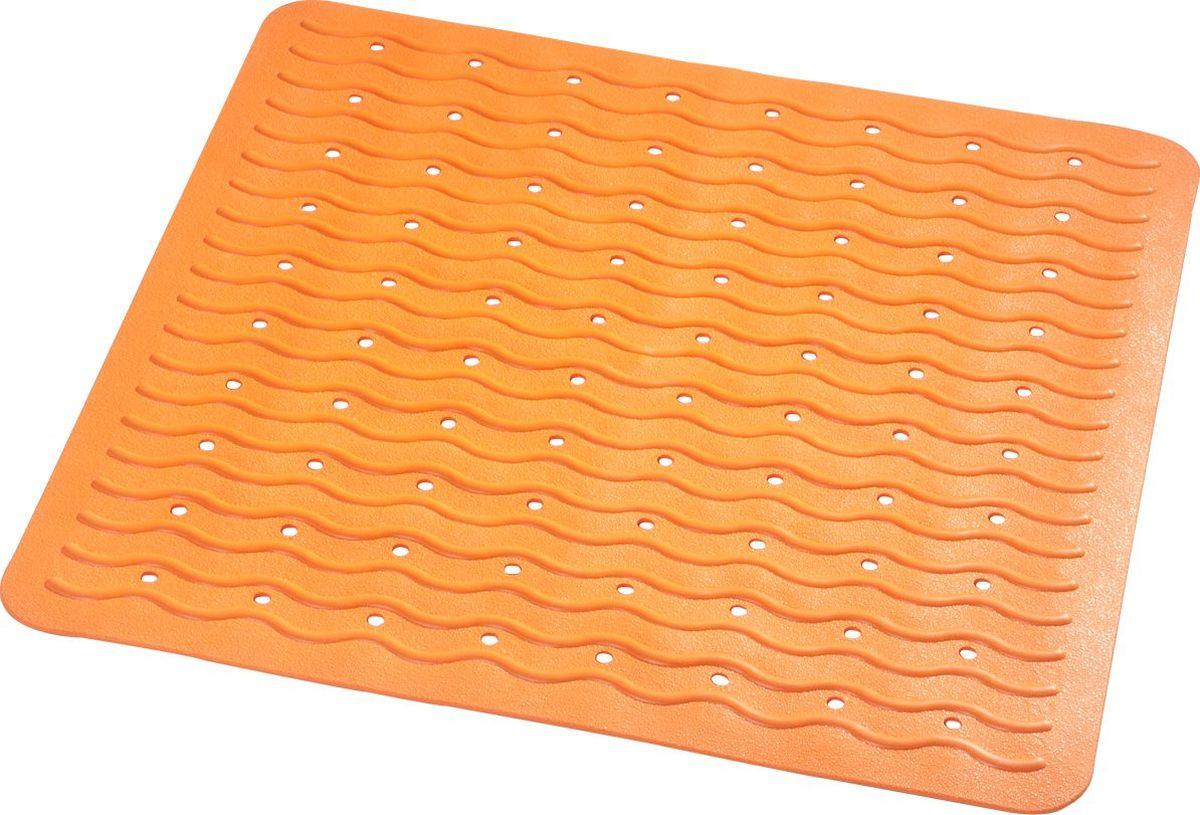 Коврик для ванной Ridder Playa, противоскользящий, на присосках, цвет: оранжевый, 54 х 54 см new us laptop keyboard for lenovo y590 y500 y510p english keyboard blacklight