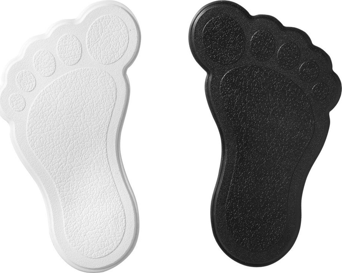 Набор ковриков для ванной Ridder Slip-Not XXS. Ступни, на присосках, цвет: черный, белый, 6 шт
