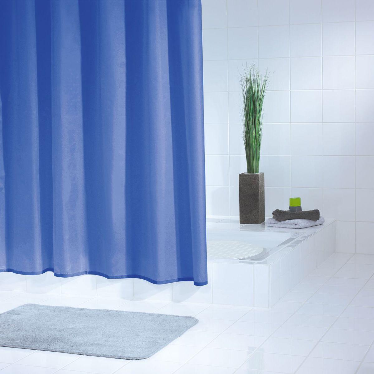 Штора для ванной комнаты Ridder Standard, цвет: синий, голубой, 180 х 200 см