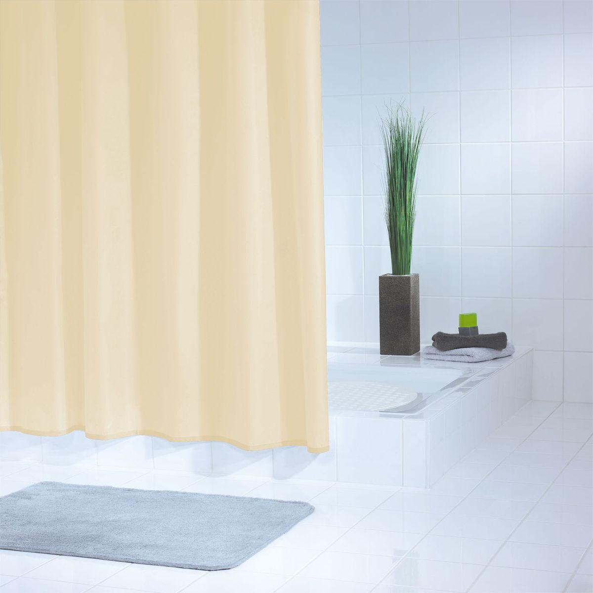 Штора для ванной комнаты Ridder  Standard , цвет: бежевый, коричневый, 240 х 180 см - Шторки, кольца и карнизы для ванной